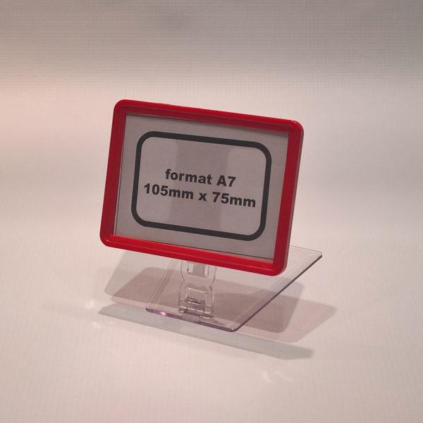 Drzac-za-cene-A8-crveni-sa-pokretnim-postoljem-25mm-visine