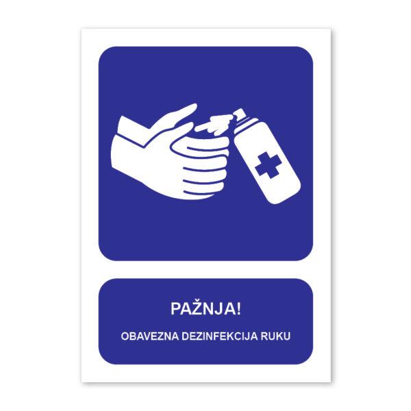 tabla dezinfekcija ruku