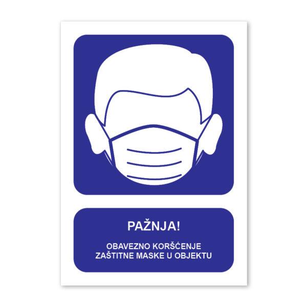 tabla korišćenje maske u objektu